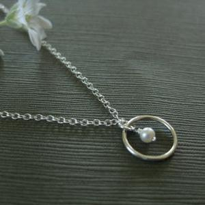 Pearl necklace, tiny natural pearl ..